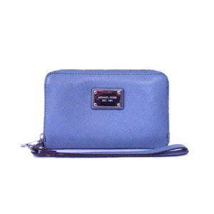 Michael Kors Jet Set Saffiano Wallet - Pale Blue